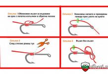 Метод за завързване на кука за риболов на Шаран и едри риби