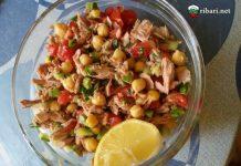 Риба с нахут и зеленчуци
