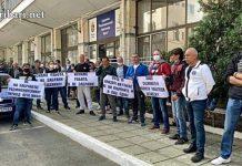 Риболовци протестират пред централата на ИАРА в Бургас +ВИДЕО